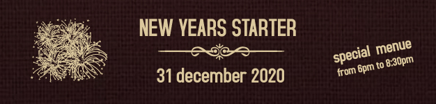 new years starter from 6:00 pm till 8:30 pm