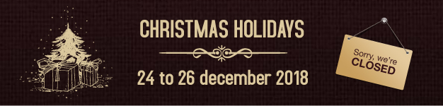 Christmas holidays - closed